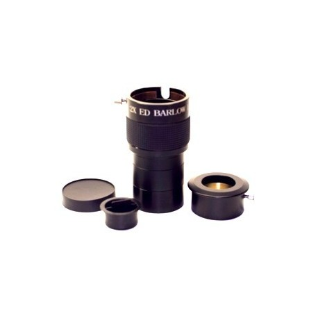 "2"" 2X ED Barlow Lens w/1.25"" Adapter (Increased Magnification & Back-Focus)"