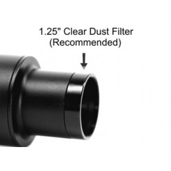 "Clear Glass Dust Filter for 1.25"" Adapters"