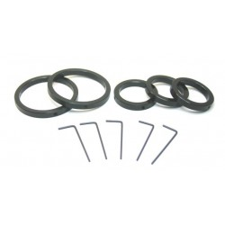 "Parfocalizing Ring Set - (3) 1.25"" & (2) 2"" Rings w/ Wrenches"