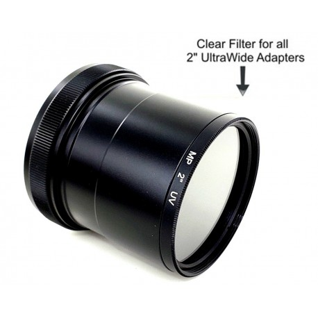 """Clear Glass Dust Filter for 2"""" Adapters"""