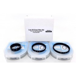 """3 Pc Clear UV Glass Dust Filter Set ( 1.25"""" / 2"""" / T )"""